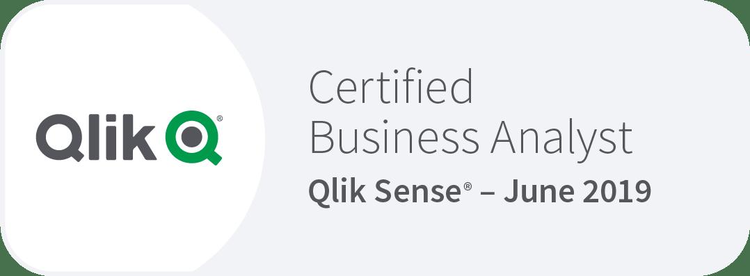 Qlik Sense certified Business Analyst