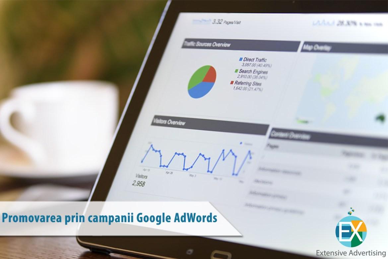 Promovarea prin campanii Google AdWords