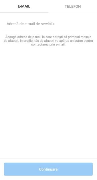 Pas 4 deschidere pagina Instagram pentru firma