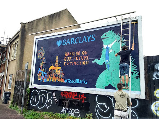 Barclays banking on our future poster