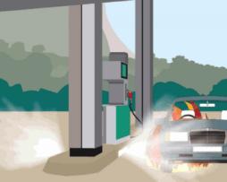 Sistema extinción para gasolineras
