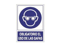 señal gafas seguridad
