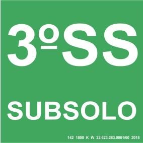 Placa de Sinalização - Subsolo