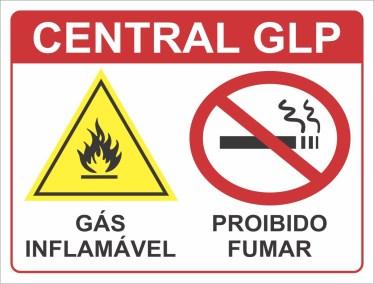 Placa de Sinalização - Central GLP