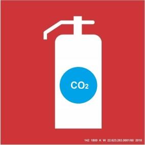 Placa de Sinalização - CO2