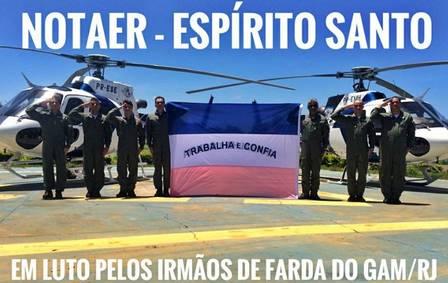 Militares da NOTAer, do Espírito Santo, prestam sua homenagem