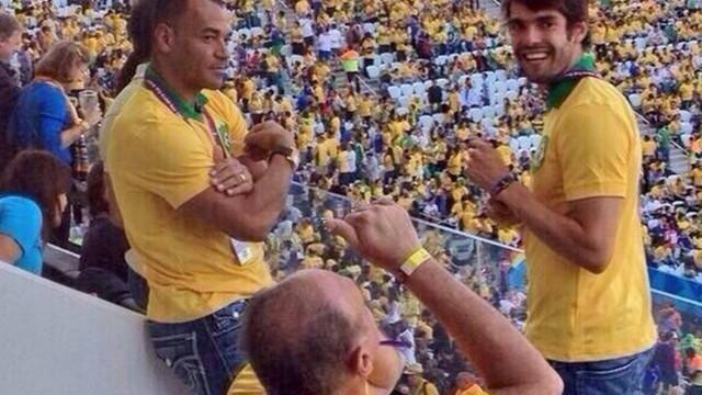 Kaká e Cafu no Itaquerão