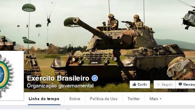 Página do Exército no Facebook recebe centenas de pedidos de novo golpe