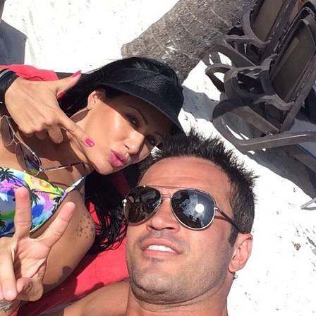 Tatiana e Falcão estão casados há mais de 15 anos