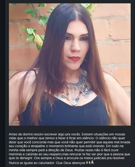 Simony usa a rede social para rebater acusações