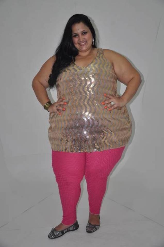 Jayla Lenoar antes da cirurgia bariátrica: 220 quilos