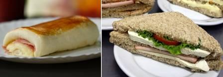 Joelho x Sanduíche de pão integral