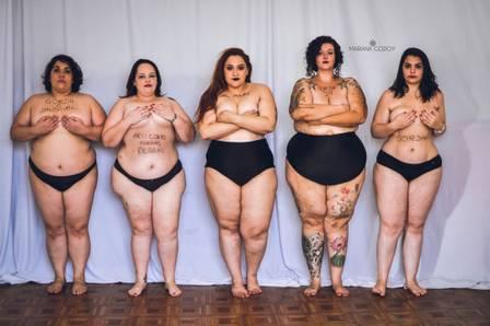 Mariana acredita que existe um grande preconceito contra gordas no Brasil