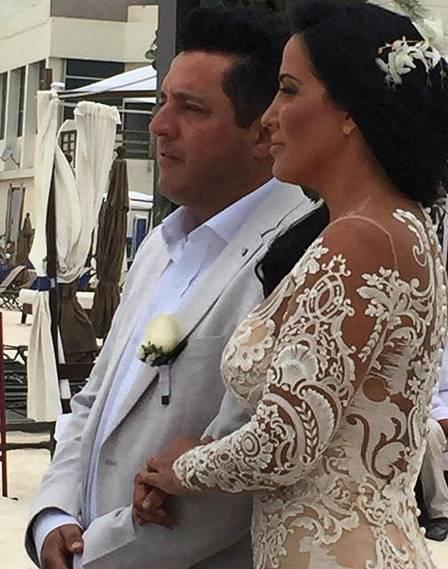 Bruno e Marianne durante a cerimônia