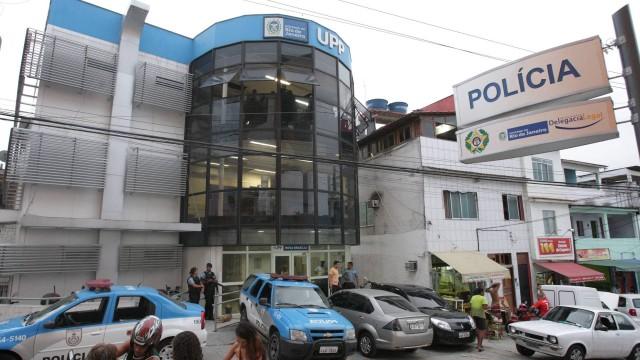 A sede da UPP Nova Brasília, no Complexo do Alemão