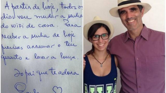 Paulo Machado e o bilhete enviado para a filha Catarina
