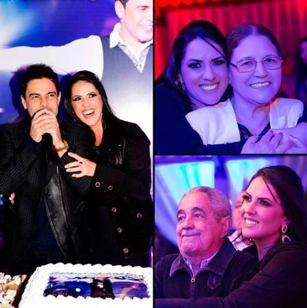 Graciele Lacerda com o Zezé Di Camargo e com os sogros