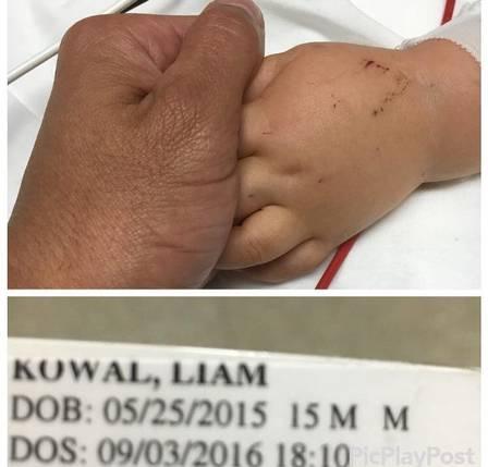 Marcus Kowal se despede do bebê Liam