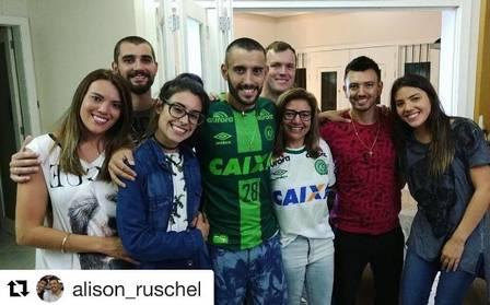 Ruschel com os familiares