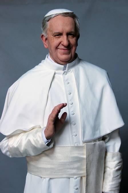 A escultura do Papa Francisco
