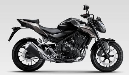 Motos Honda com mais de 450 cilindradas estão em segundo lugar
