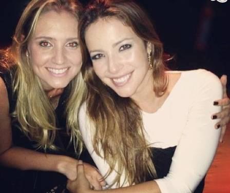 Rachel com a atriz Renata Dominguez