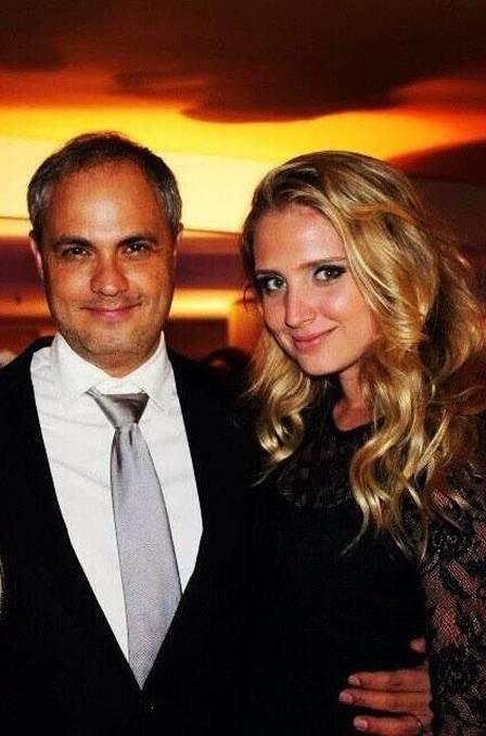 Rachel Crivella com o diretor Alexandre Avancini