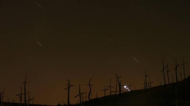 Chuva de meteoros Perseida fotografara ano passado, na Espanha