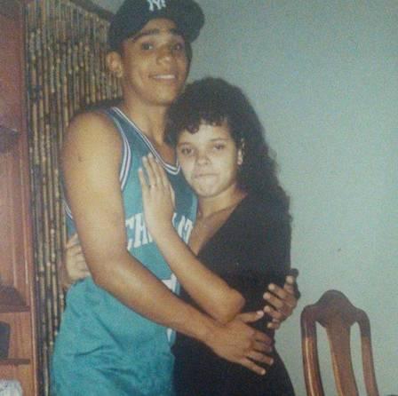 Naldo e a ex-mulher quando ainda eram jovens