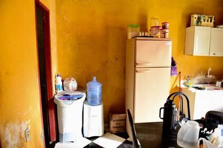Cozinha da casa de Gleici do