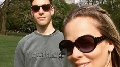 Samantha Gondim com o filho, Mayã, do relacionamento com Alexandre Frota