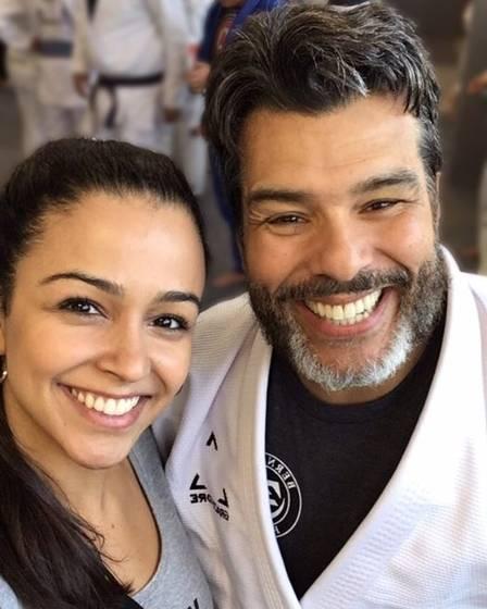 Maurício Mattar com a filha Rayra Gracie