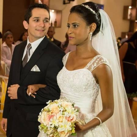 Fernanda e Vanclecio se casaram em março de 2015