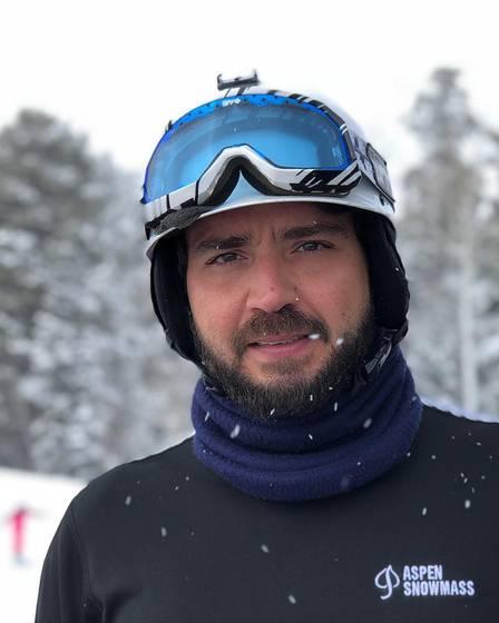 Otavio Barros esquiou em Aspen, nos Estados Unidos, onde conheceu Anitta