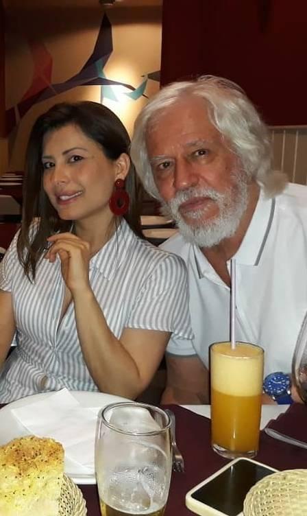 Nuno Leal Maia com a mulher, Monica: 17 anos de união