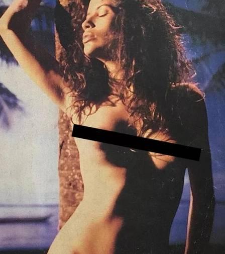 Isadora Ribeiro em ensaio nu nos anos 90