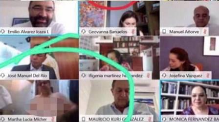 Senadora mexicana troca de roupa durante videoconferência