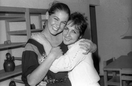 Xuxa com a mãe, Alda, quando passou para o vestibular para Biologia em 1982