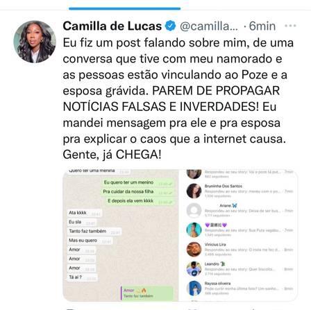 Camilla de Lucas denies indirect