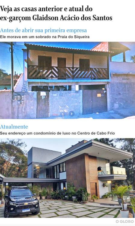 Glaidson Acácio dos Santos' change in life was reflected in the pattern of the houses where he lived
