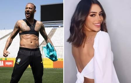 Neymar takes Bruna Biancardi affair to watch the game