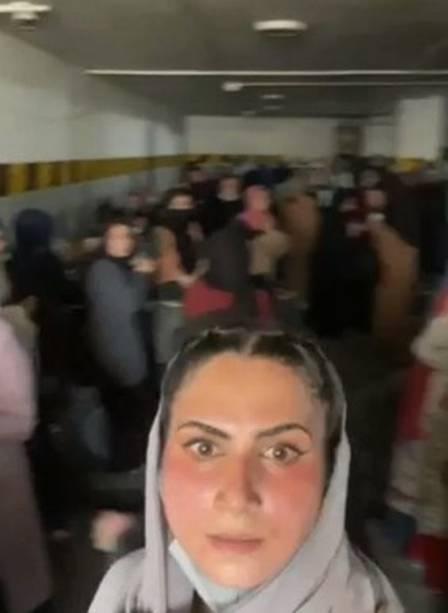 Women confined in building parking lot in Kabul