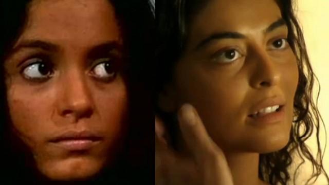 Gabriela de Sônia Braga à esquerda e Juliana Paes na pele da personagem à direita.