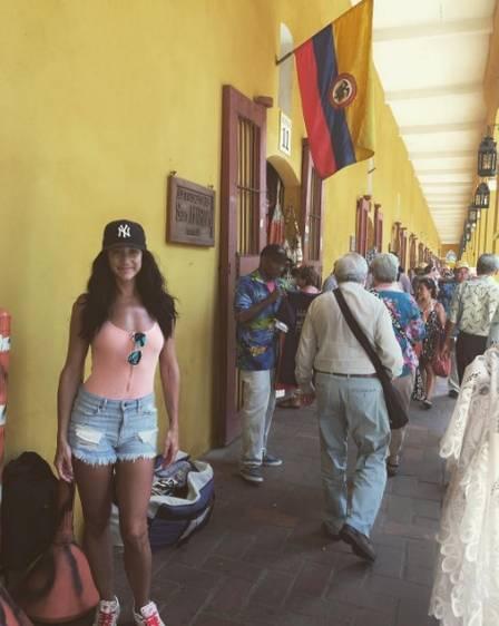 Isabelle Lagacé em Cartagena, na Colômbia