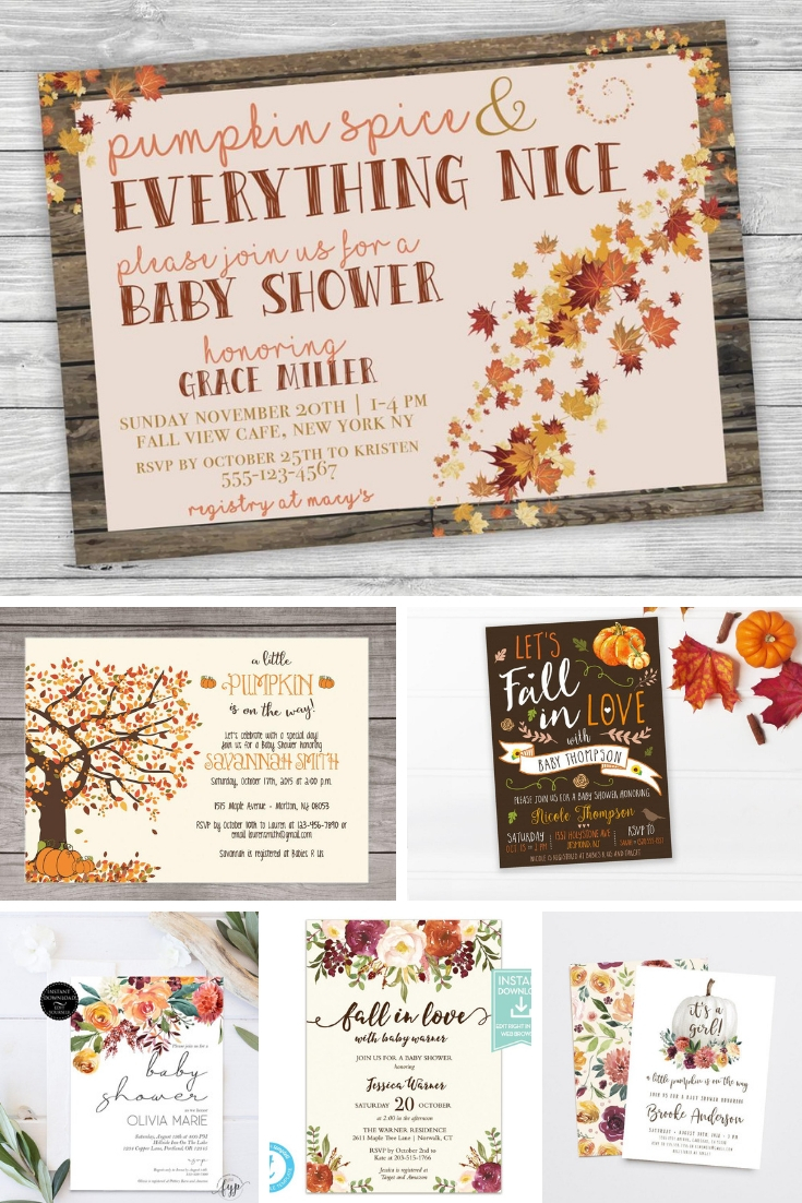 Fall Themed Baby Shower Inspiration Extra Black Olives