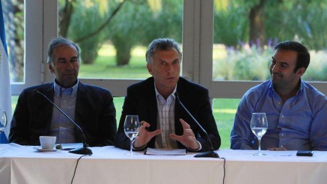 Humberto Schiavoni, Mauricio Macri y Francisco Quintana