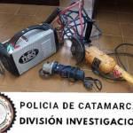 En Valle Viejo recuperan una máquina soldadora y dos amoladoras robadas