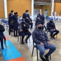 Continúa el operativo de vacunación destinado al personal Policial en las instalaciones del Predio Ferial Campos las Eras