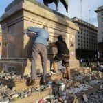 Vandalizaron el memorial de las víctimas del Covid