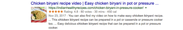 Rich Snippets example image